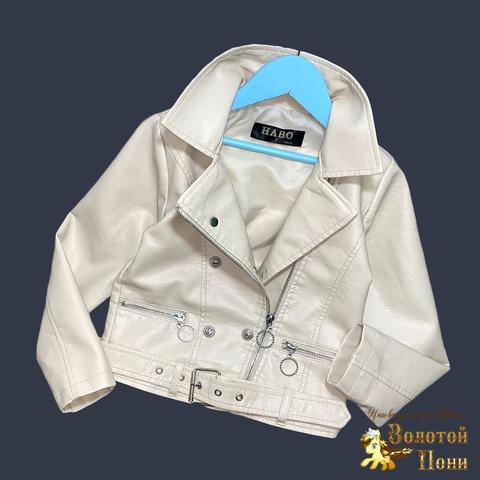 Куртка эко-кожа девочке (5-13) 210524-К74022