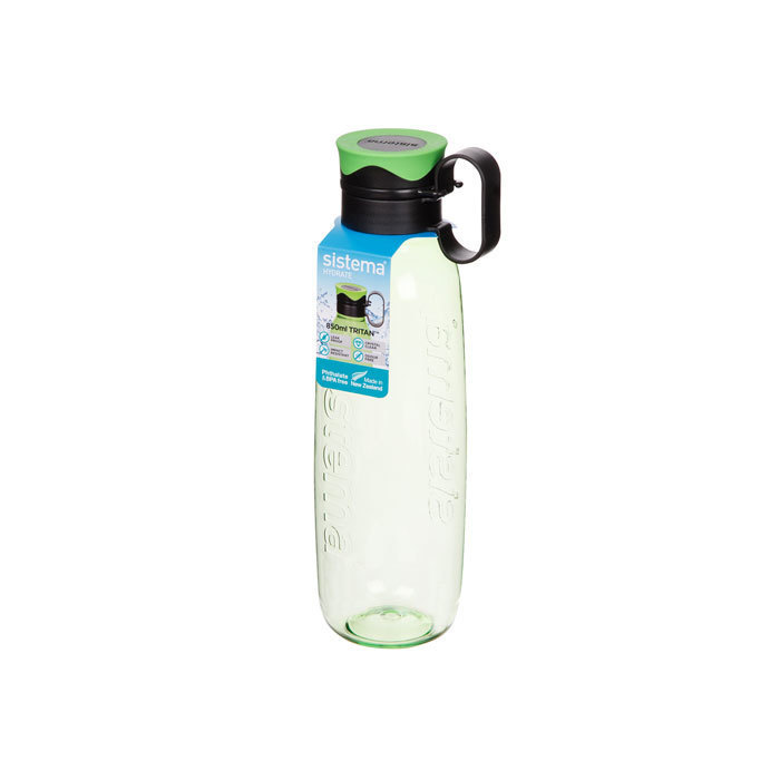"Бутылка для воды с петелькой Sistema ""Hydrate"", Тритан, 850 мл, цвет Зеленый"