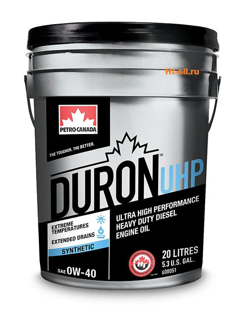 DURON UHP 0W-40 моторное масло для дизельных двигателей Petro-Canada (20 литров)