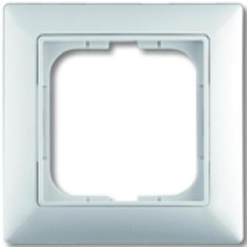 Рамка на 1 пост. Цвет белый. ABB(АББ). Basic 55(Бейсик 55). 1725-0-1479