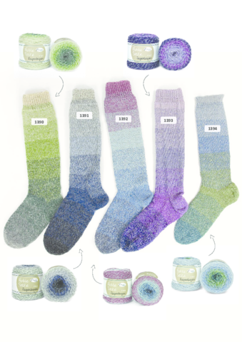 Flotte Socke Regenbogen 1390 пряжа для носков