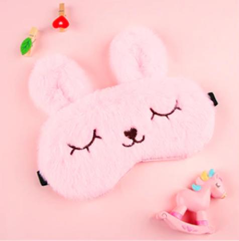 Маска для сна розовая
