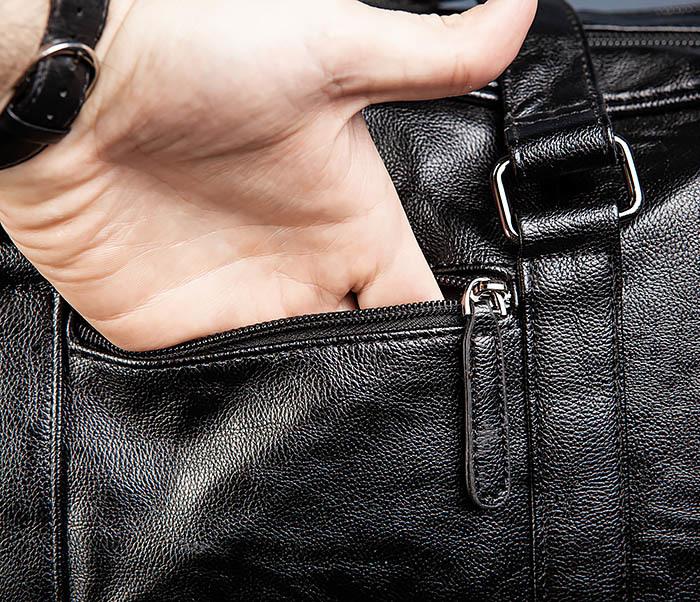 BAG549 Большая дорожная сумка из кожи фото 11