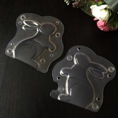 Поликарбонатная форма для шоколада  3D ЗАЯЦ\КРОЛИК  160х120мм
