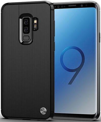 Чехол для Samsung Galaxy S9 Plus цвет Black (черный), серия Bevel от Caseport