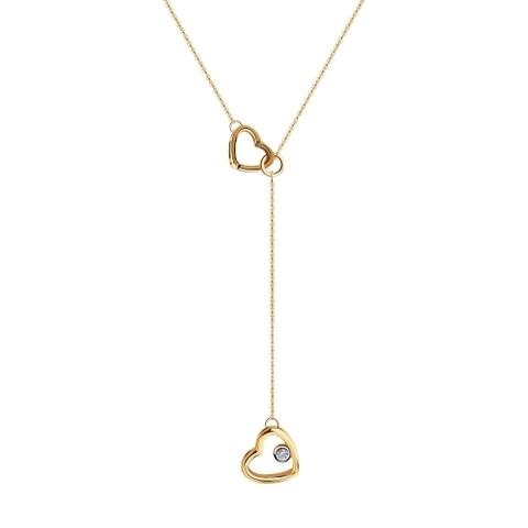 1070095 - Колье из золота с бриллиантом