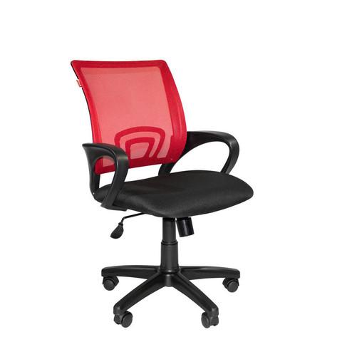 Кресло офисное Easy Chair 304 черное/красное (ткань/сетка/пластик)