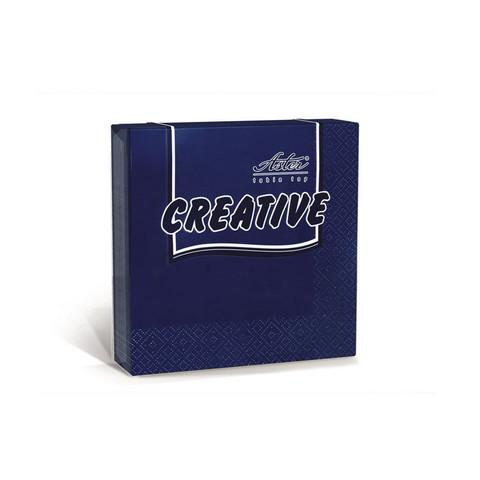 Салфетки бумажные Aster Creative 33x33 см синие 3-слойные 20 штук в упаковке