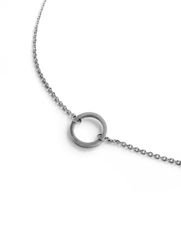 Серебряное колье с кольцом, 11 мм