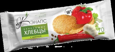 КЭНАПС хлебцы хрустящие с аджикой 70 г