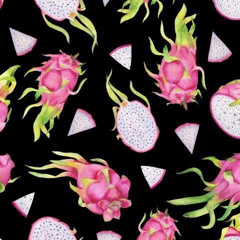 Драгонфруты на черном