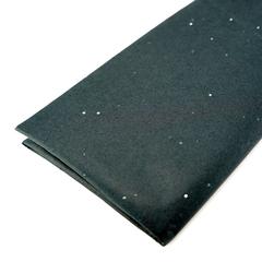 Бумага упаковочная тишью, Черная с блестками, 50*66 см, 10 листов.