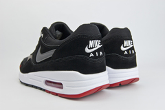 кроссовки Nike Air Max 1 Suede Black / White / Red