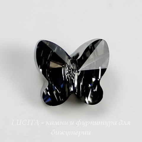 5754 Бусина в виде бабочки Сваровски Crystal Silver Night  8 мм