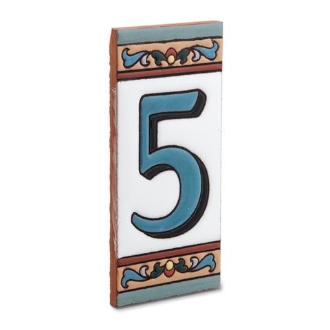 Цифра 5, керамика