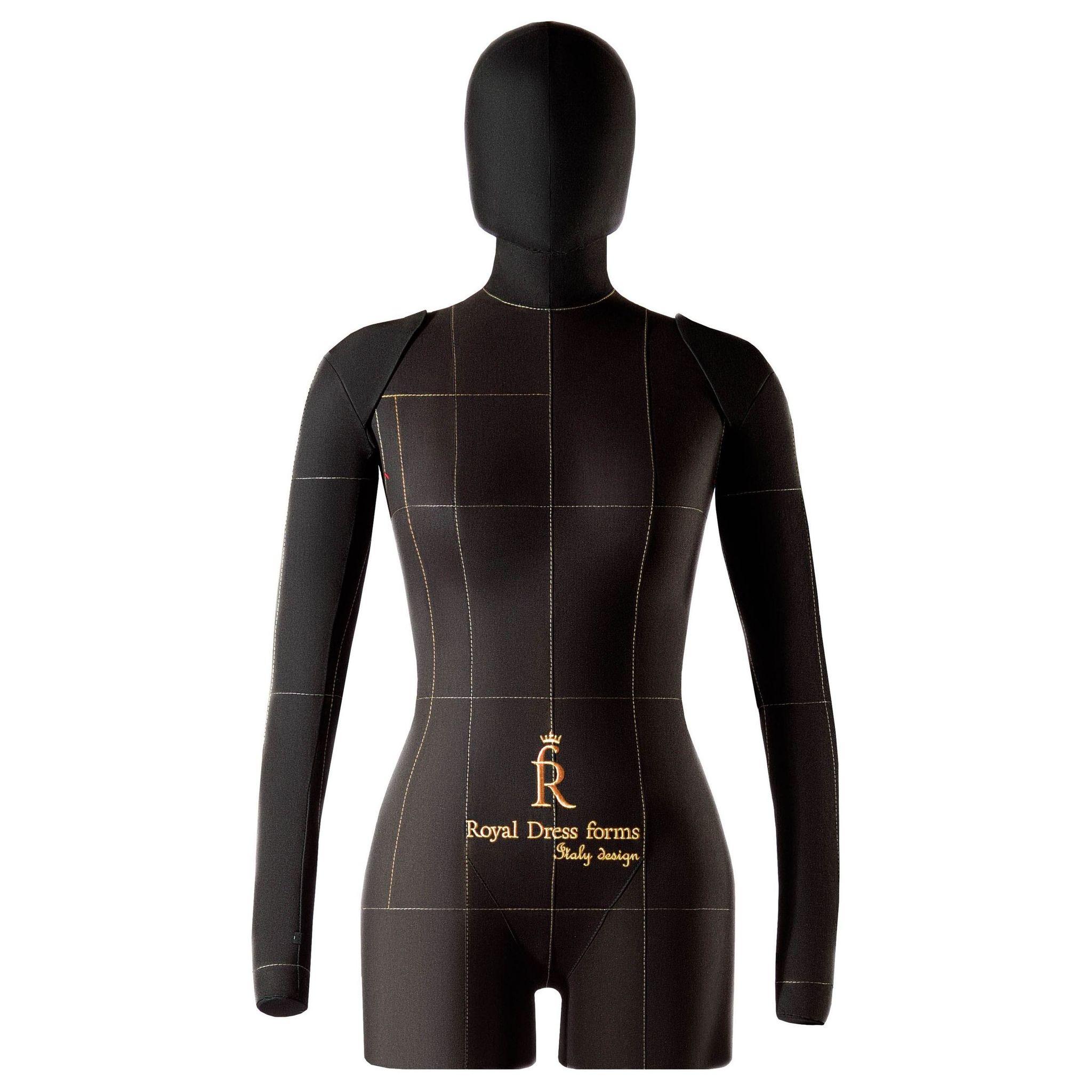 Комплект Lux: мягкий манекен Monica черный, Ручки, Голова, Фиксатор, Сумка