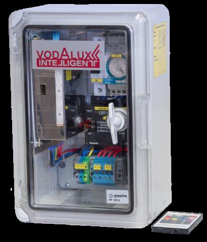 RGB шкаф управления подсветкой 220V/12V/216W/DC, блок питания, контроллер, таймер, автомат VI-CP-12-216