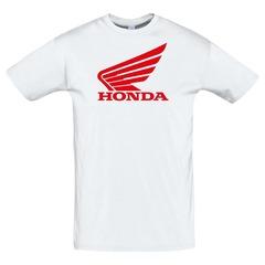 Футболка с принтом Хонда (Honda) белая 4