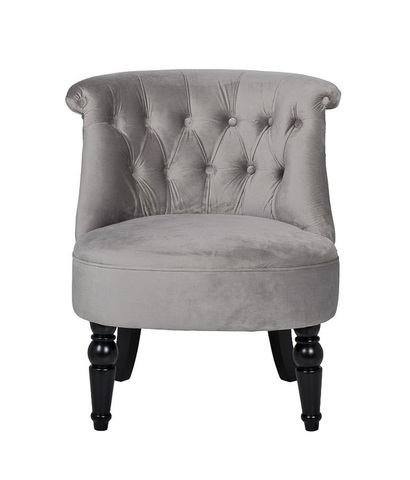 Кресло низкое серое велюровое (24YJ-8044B-057) Garda Decor