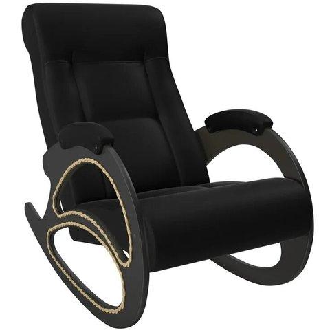 Кресло-качалка Комфорт Модель 4 венге/Vegas Lite Black