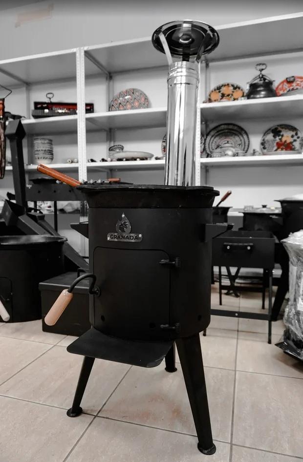 Печи под казан Печь для казана Granada Premium с трубой 8 литров c3gkzYJ5gN4.jpg