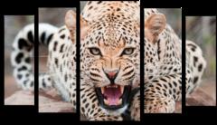 "Модульная картина ""Леопард"""