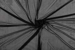 Сетка эластичная чёрная (метражом)