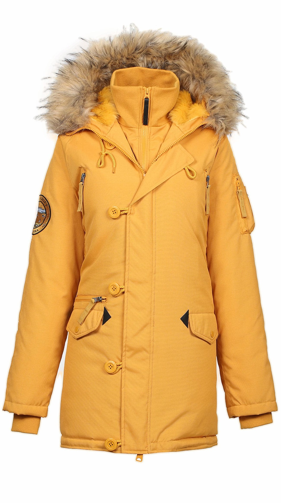 Куртка Аляска Женская - Apolloget Oxford Wmn (желтая - g.glow/amber)