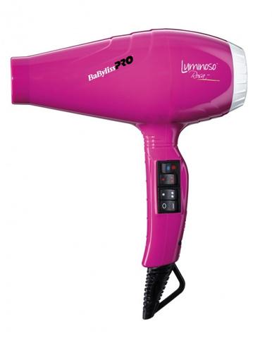 Фен BaByliss Pro Luminoso+, 2100 Вт, 2 насадки, розовый