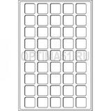 Флокированный лоток для монет, тип L, на 45 монет до 31 mm Ø, синий