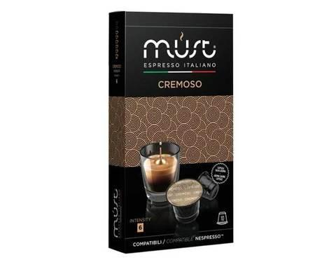 Кофе в капсулах Must Cremoso, 10 капсул для кофемашин Nespresso
