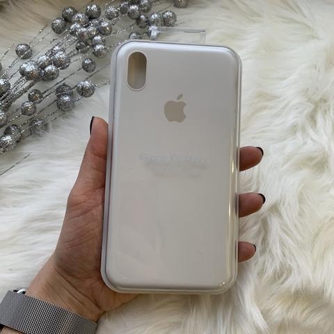 Чехол iPhone XS Max Silicone Slim Case /white/