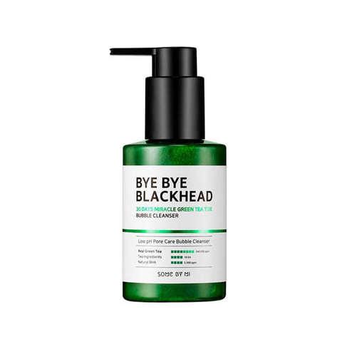 Some by mi Bye Bye Blackhead 30 Days Miracle Green Tea Tox Bubble Cleanser Кислородное очищающее средство против чёрных точек
