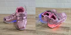 Обувь дет. № 4 Кроссовки КРЫЛЬЯ Светящиеся Розовые