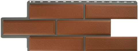 Фасадная панель Альта Профиль Камень венецианский Терракотовый 1250х450 мм