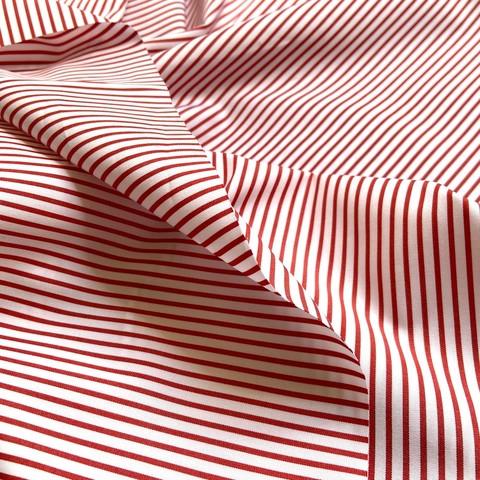 сорочечный хлопок в красную полоску