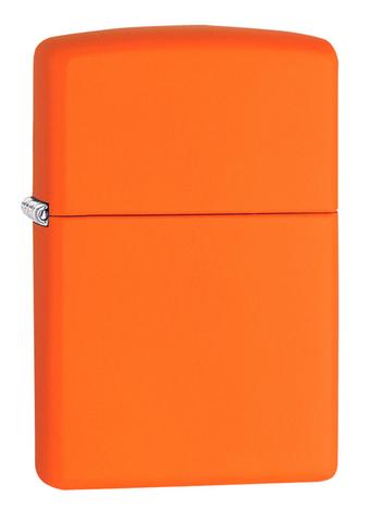 Зажигалка Zippo Classic с покрытием Orange Matte, латунь/сталь, оранжевая, матовая, 36x12x56 мм123
