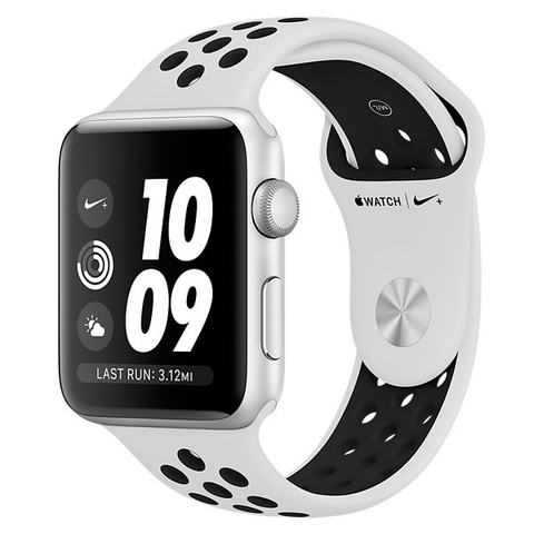 Watch S4 Nike+ 44mm Silver Al/Bl Nike Band