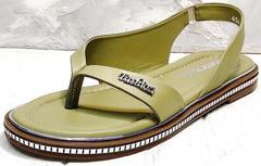 Модные босоножки сандалии женские кожаные Evromoda 454-411 Olive.