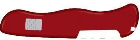 Задняя накладка для ножей Victorinox 111 мм, нейлоновая, красная