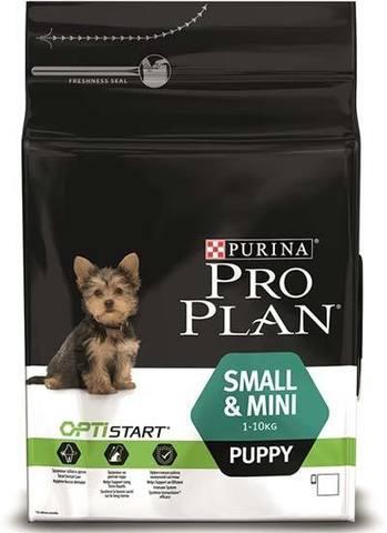 Сухой корм Pro Plan Small&Mini Puppy Optistart c курицей и рисом для щенков мелких и карликовых пород 7кг
