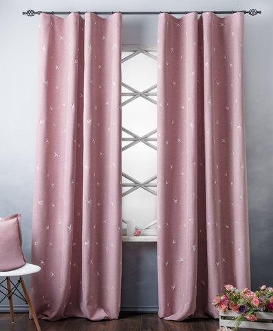 Комплект штор с подхватами Стейн розовый