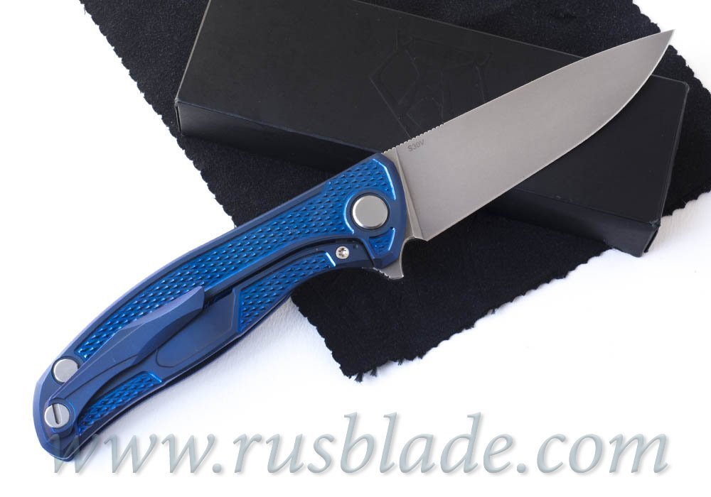 CUSTOM Shirogorov F95 Navy FLAG S30V - фотография