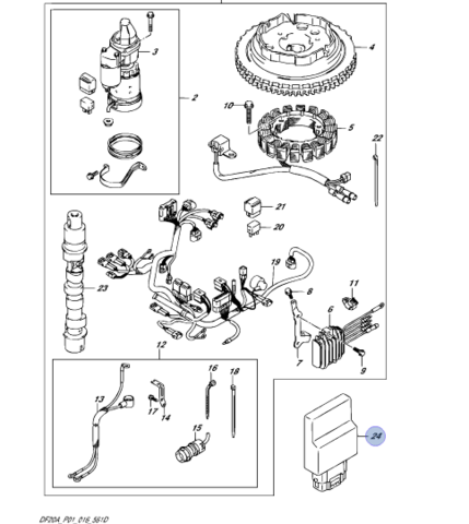 Блок управления Suzuki DF9.9/DF15/DF20A