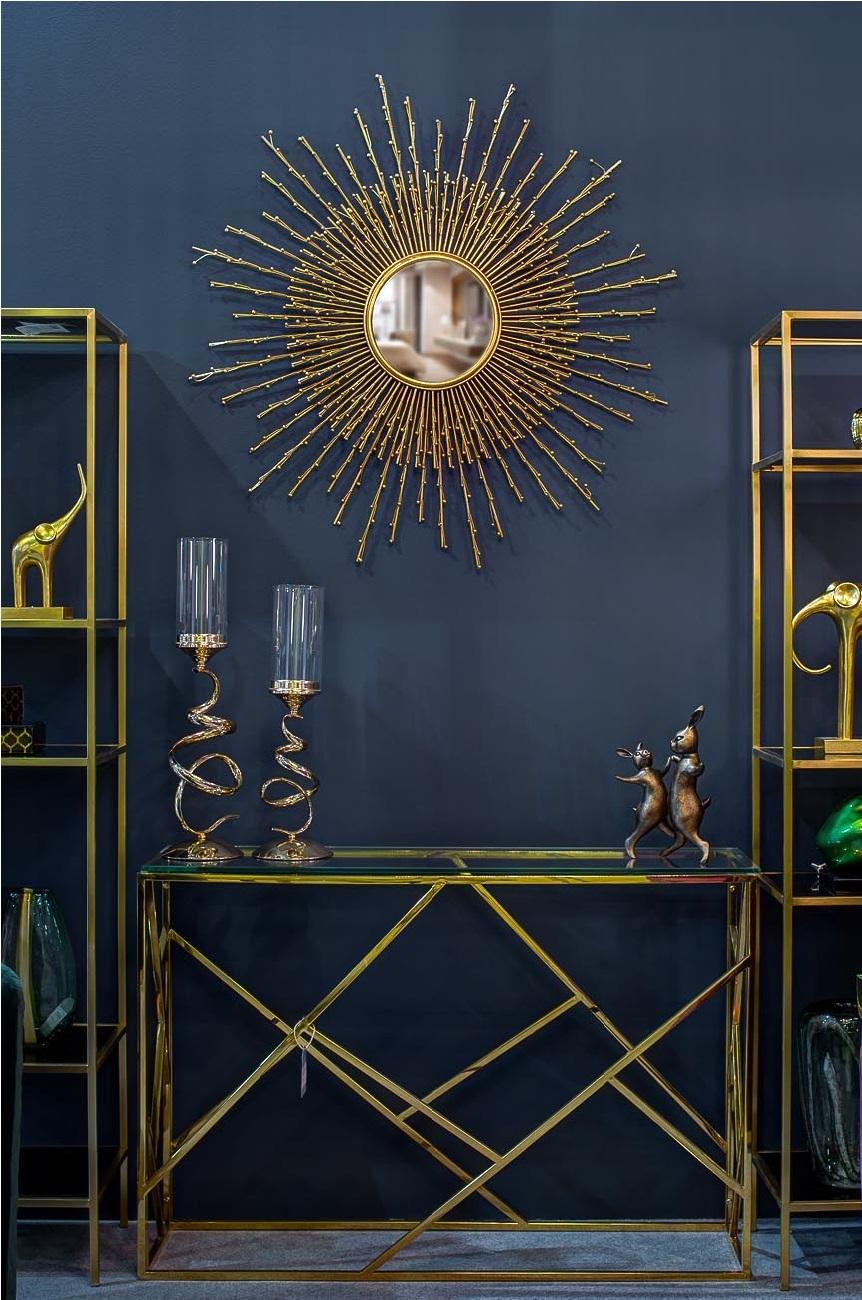 Консоль прозрачное стекло/золото (GY-CST2051214GOLD) Garda Decor