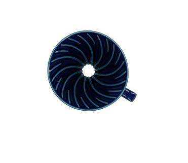 Воронка Hario керамическая для приготовления кофе, цвет тёмно синий VDC02-BU-UEX