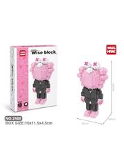 Конструктор Wisehawk Х Кавс GS розово-черный 799 деталей NO. 2568 X Kaws GS Wise block