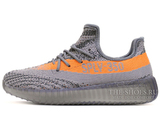 Кроссовки Мужские Adidas Originals Yeezy Boost Sply 350 V2 Stealth Grey / Beluga / Solar Red