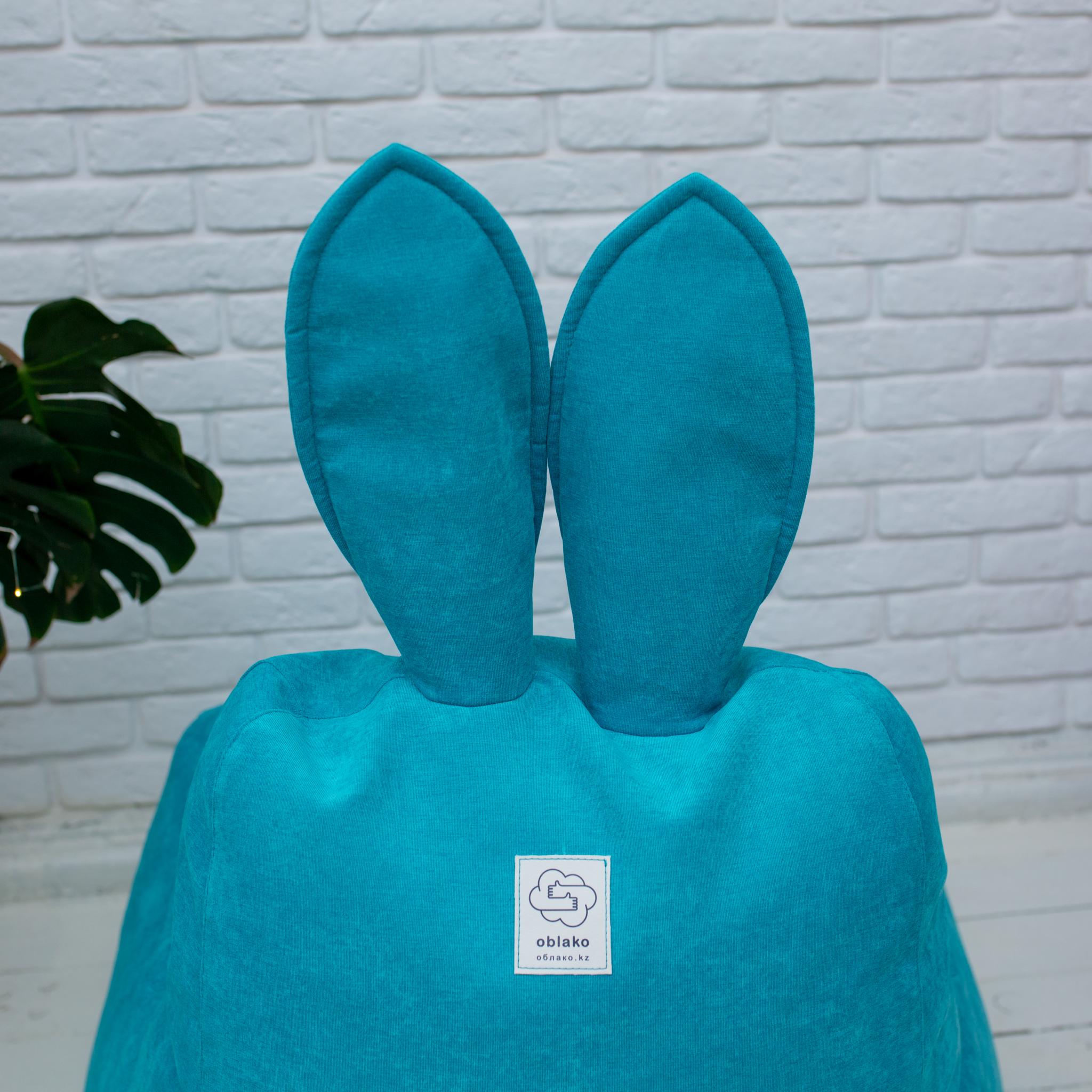 Кролик М микровельвет (бирюзовый)