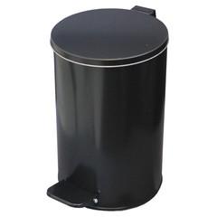 Ведро для мусора с педалью 10 л оцинкованная сталь черное (20х31 см)